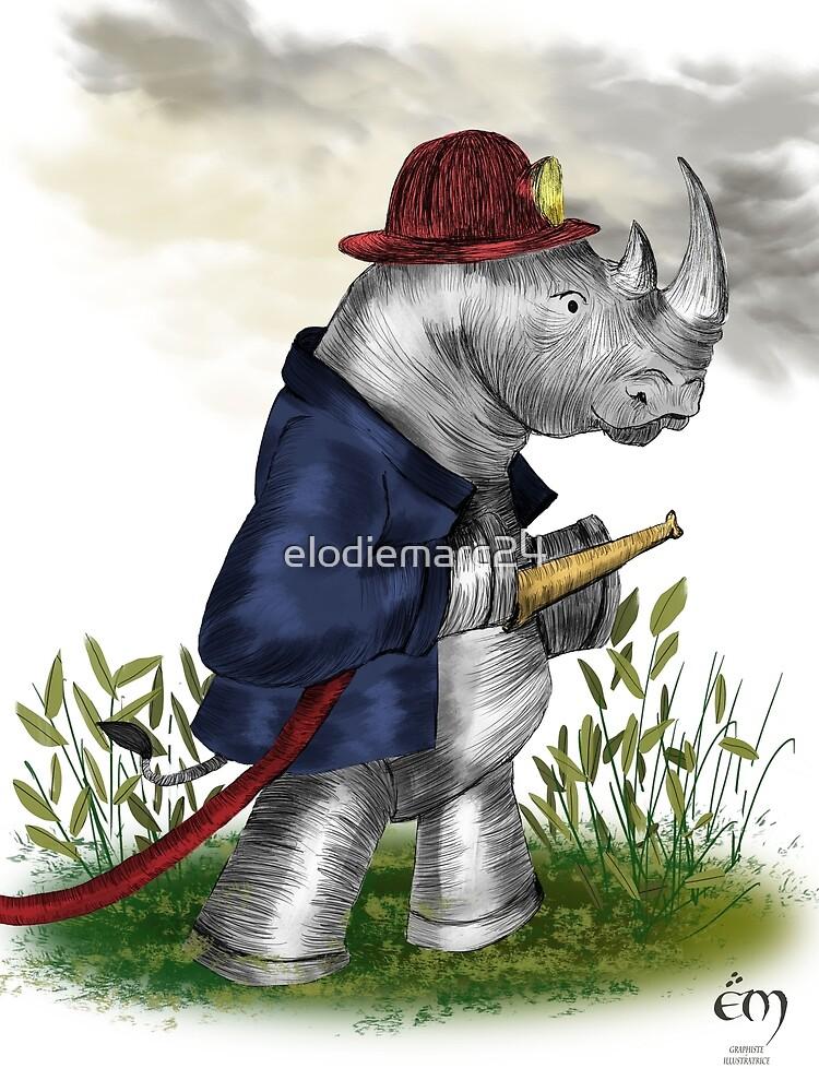 «Le Rhinoceros pompier» par elodiemarc24