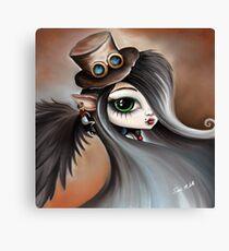 Steampunk Vampire Girl - Dark Angel Canvas Print