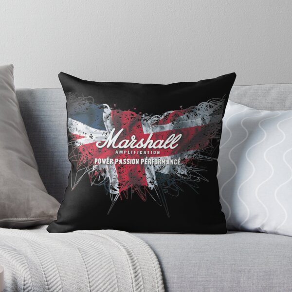Marshall Guitar Amplifier Throw Pillow