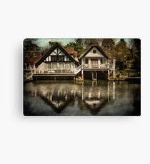 Boathouses at Goring on Thames Canvas Print