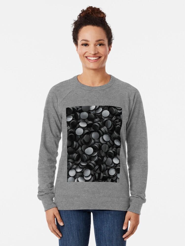 Alternate view of Hockey pucks Lightweight Sweatshirt