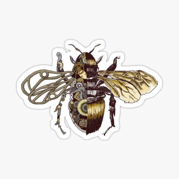 Clockwork Bee  Sticker