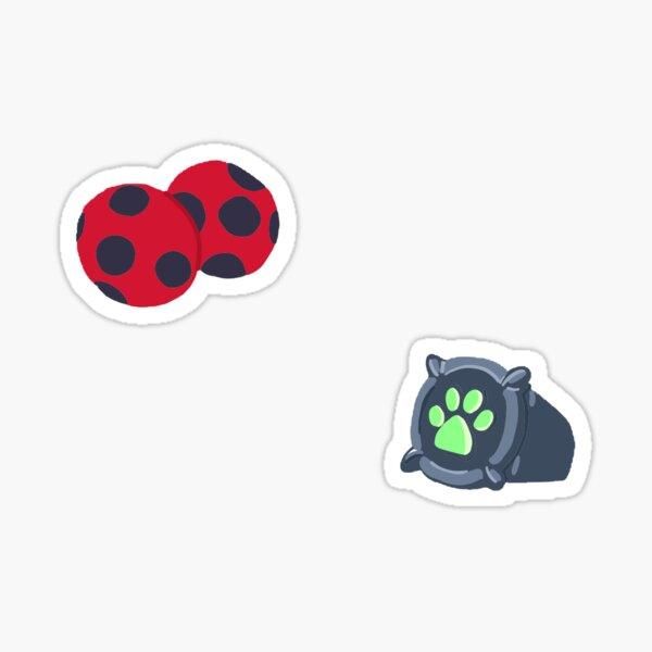 Pack d'autocollants de Ladybug et Chat Noir Miraculous Sticker