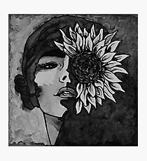 Sunflower Girl Photographic Print