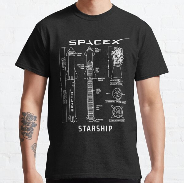 SpaceX Starship Blueprint Classic T-Shirt