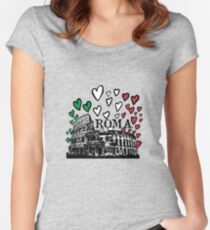Roma flying hearts Women's Fitted Scoop T-Shirt