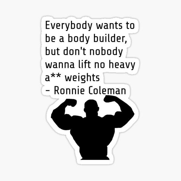 Ronnie Coleman Motivationszitat Sticker