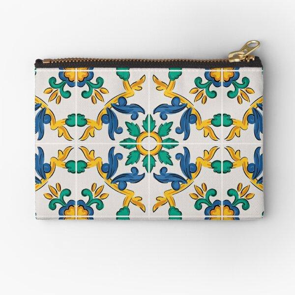 Sicilian Traditional Tile  Zipper Pouch