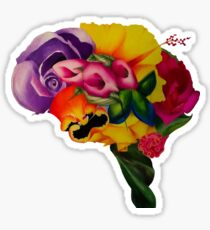 Floral Brain Sticker