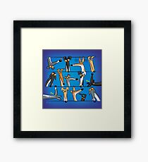 Heads Up! assorted items Framed Print