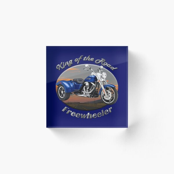 Harley Davidson Freewheeler King Of The Road Acrylic Block