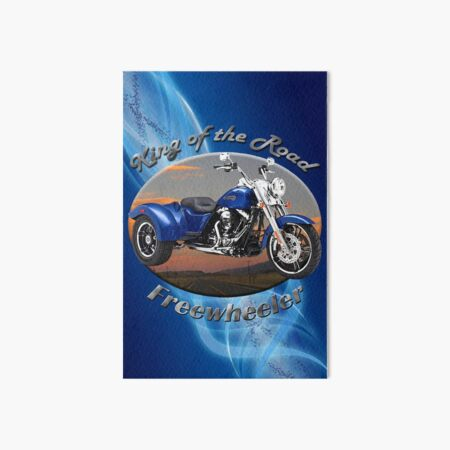 Harley Davidson Freewheeler King Of The Road Art Board Print