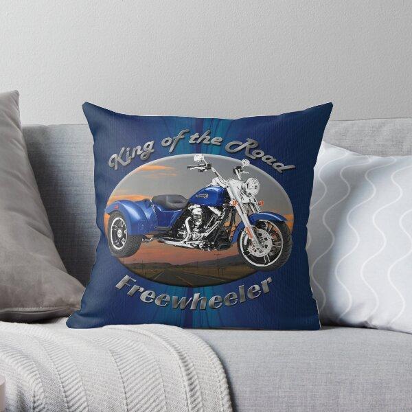 Harley Davidson Freewheeler King Of The Road Throw Pillow