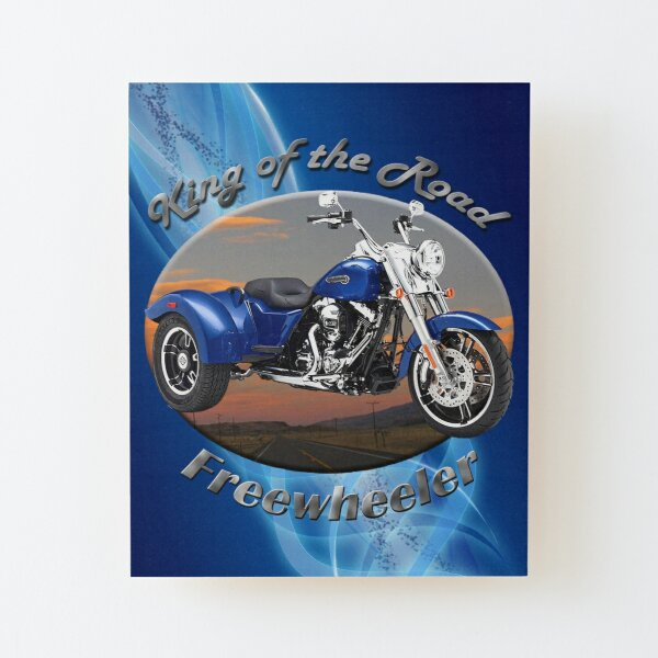 Harley Davidson Freewheeler King Of The Road Wood Mounted Print
