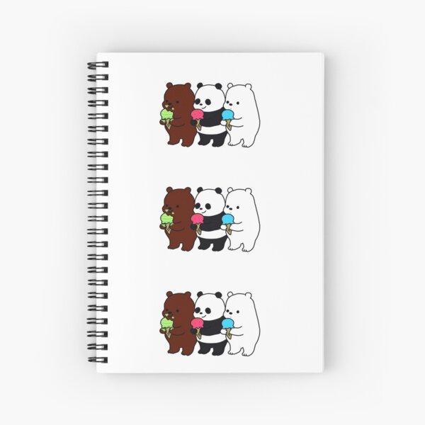 Osos  escandalosos con helado  Cuaderno de espiral