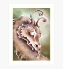 Sleeping Dragon - Peace and Tranquility Art Print