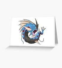 Mega Gyarados Greeting Card
