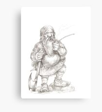 Smoking Dwarf Canvas Print