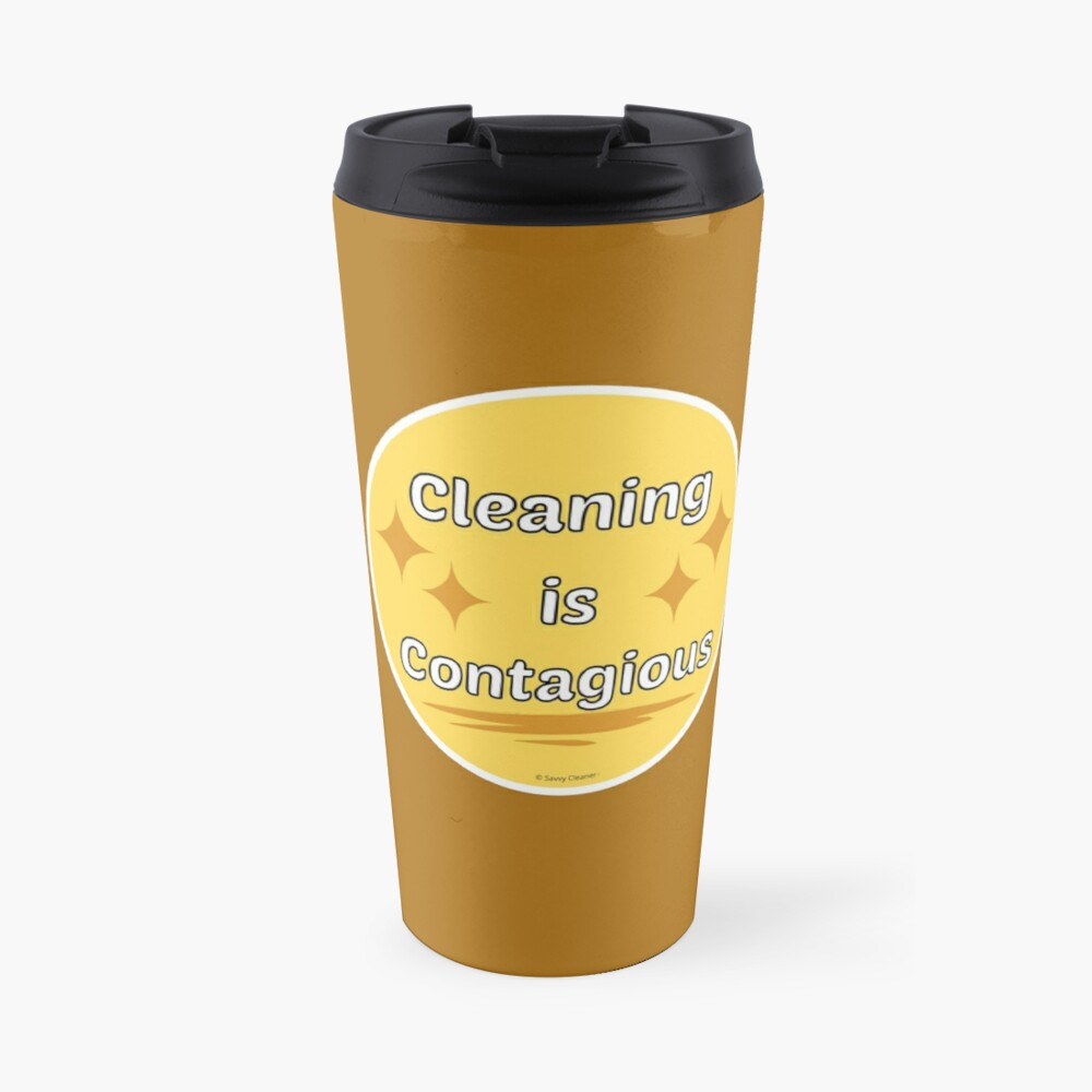 Cleaning is Contagious Retro Housework Housekeeper Gifts Travel Mug