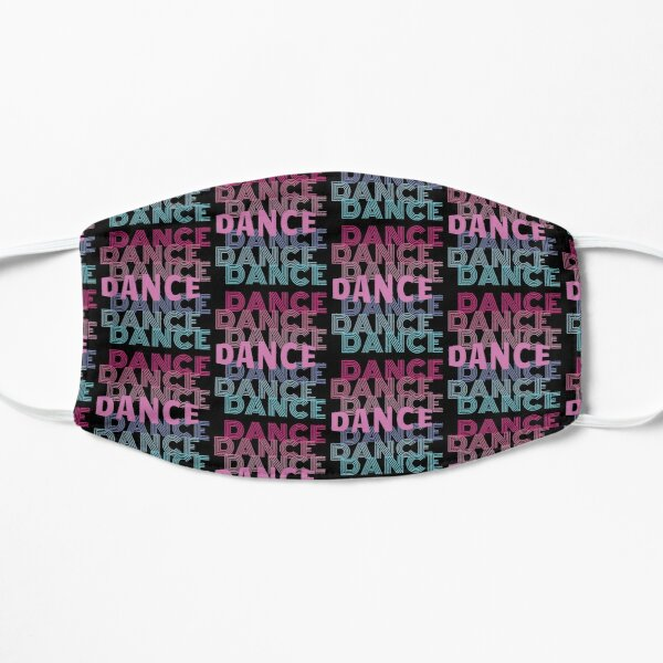 Dance With Retro Look Lettering Flat Mask