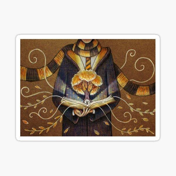 Books magic yellow Sticker