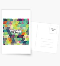 Due Tomorrow? Do Tomorrow. Geometric Background Postcards