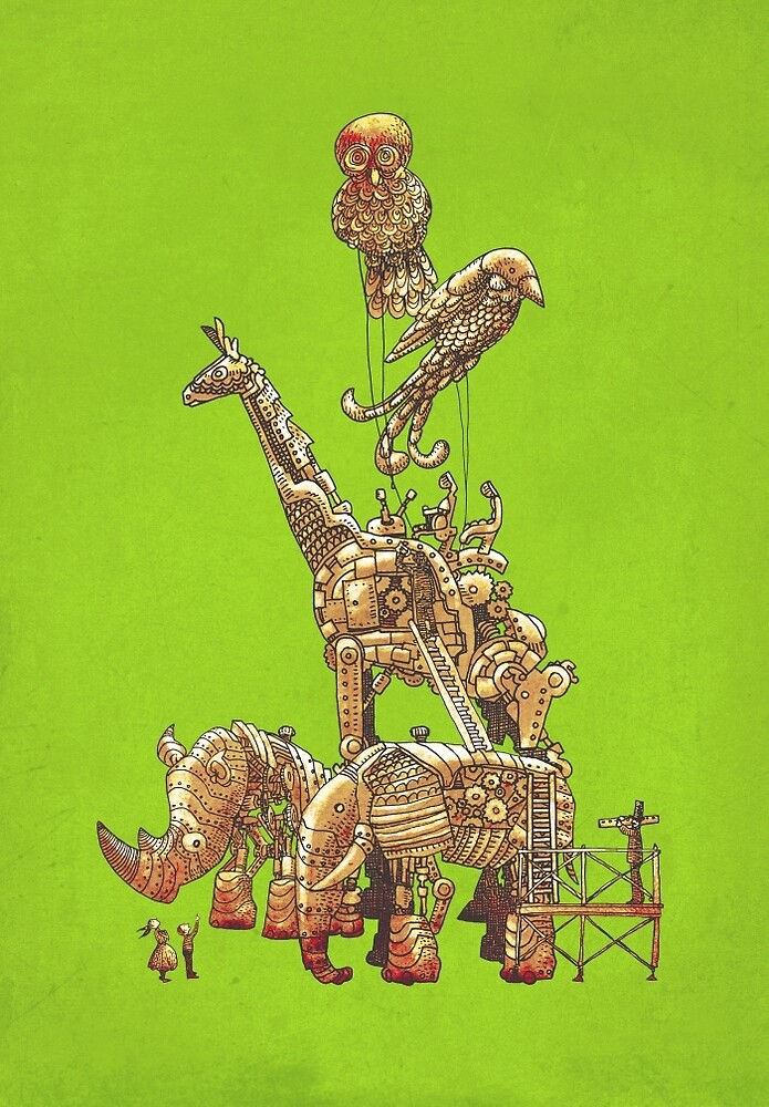 The Clockwork Menagerie (Lime) by Eric Fan