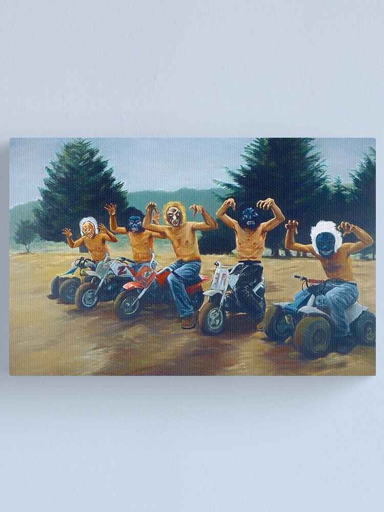 """Alternate view of Painting from """"The Royal Tenenbaums""""  Canvas Print"""