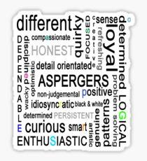 Colourful Asperger's Sticker