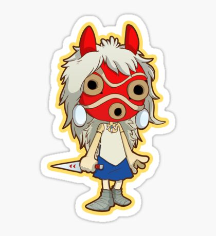 Princess Mononoke Masked Sticker