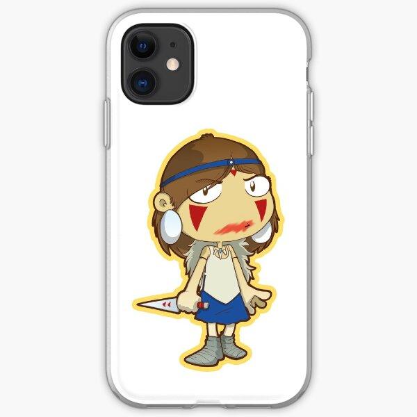 Princess Mononoke blood smear iPhone Soft Case