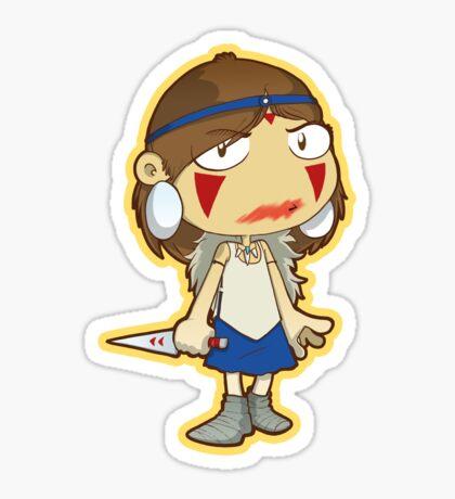 Princess Mononoke blood smear Sticker