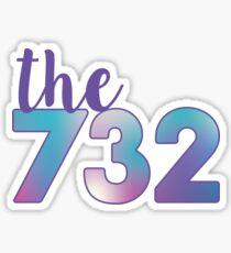 The 732 Area Code Sticker