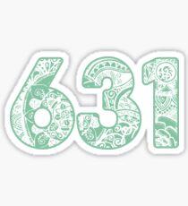 The 631 Area Code Sticker