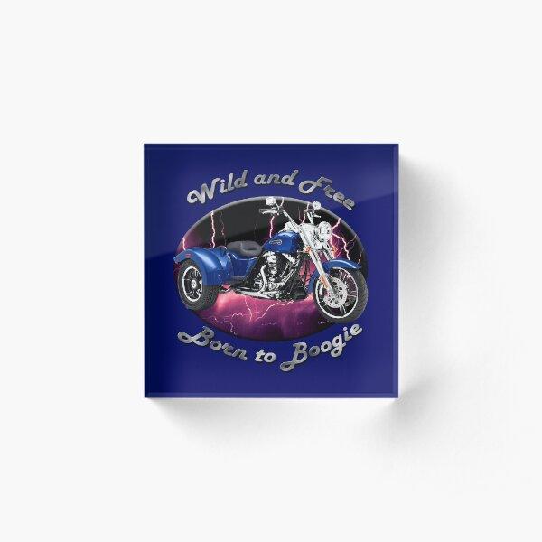 Harley Davidson Freewheeler Wild And Free Acrylic Block