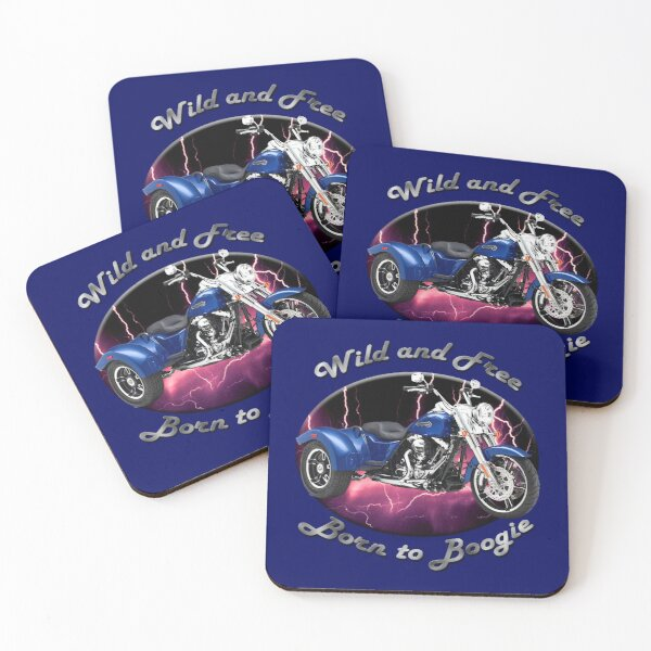 Harley Davidson Freewheeler Wild And Free Coasters (Set of 4)