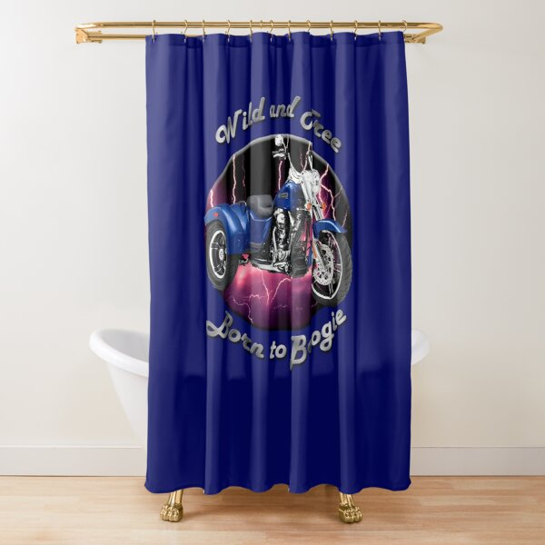 Harley Davidson Freewheeler Wild And Free Shower Curtain