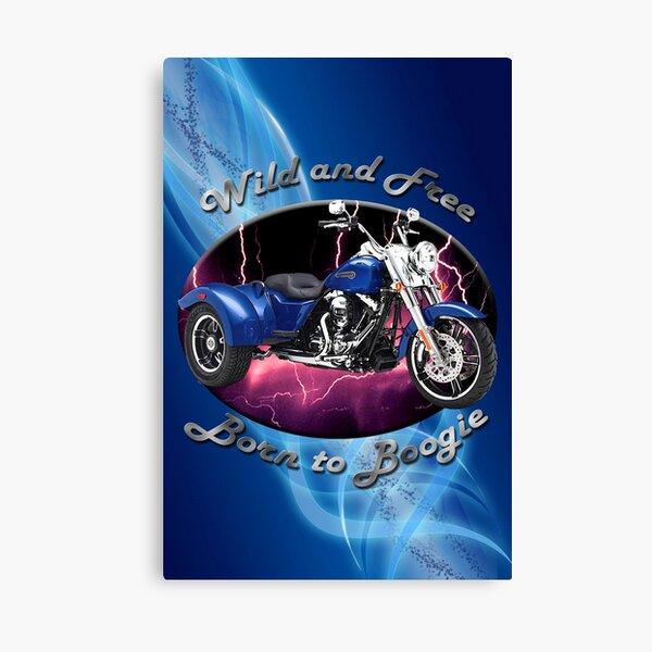 Harley Davidson Freewheeler Wild And Free Canvas Print