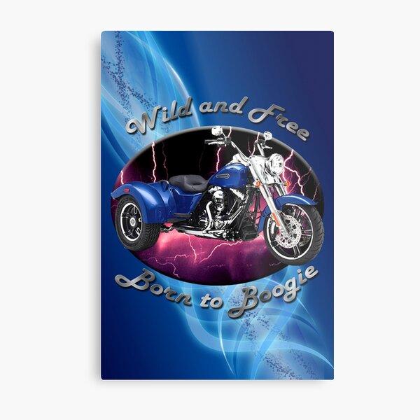 Harley Davidson Freewheeler Wild And Free Metal Print