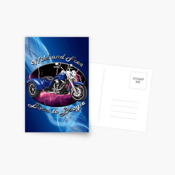 Harley Davidson Freewheeler Wild And Free Postcard