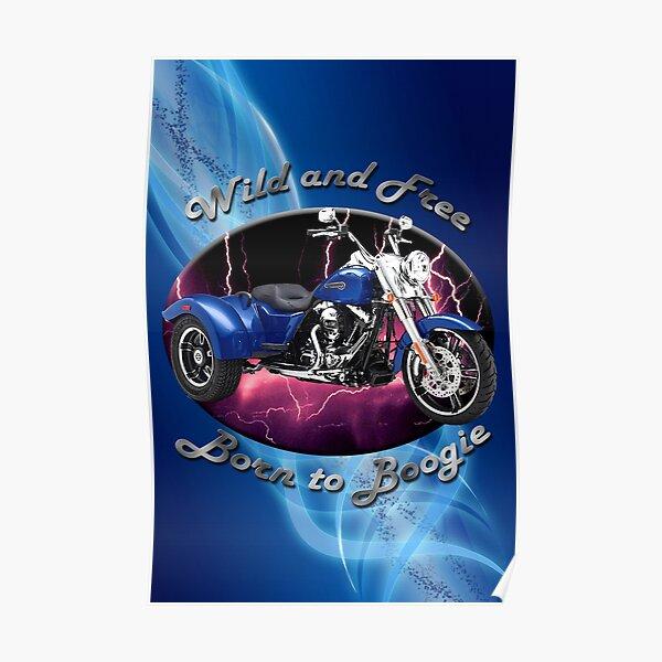 Harley Davidson Freewheeler Wild And Free Poster