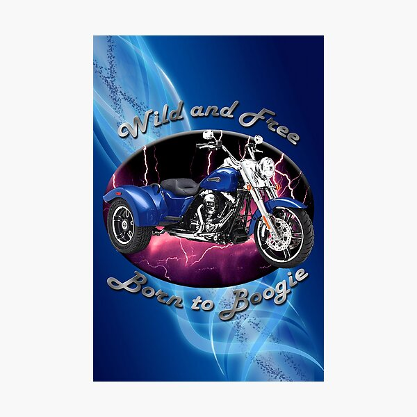 Harley Davidson Freewheeler Wild And Free Photographic Print