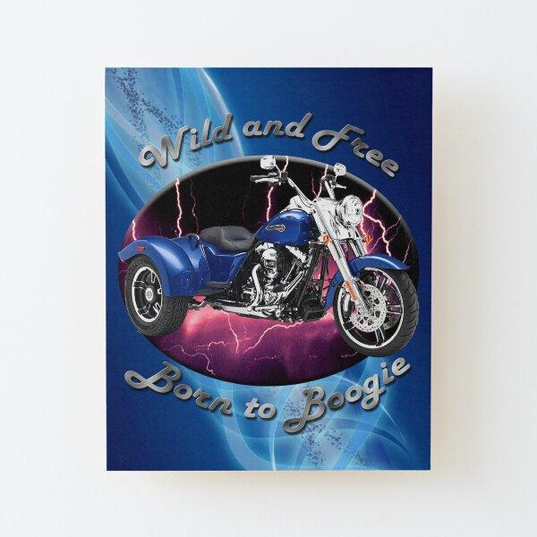 Harley Davidson Freewheeler Wild And Free Wood Mounted Print