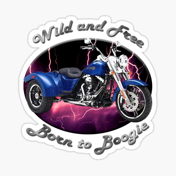 Harley Davidson Freewheeler Wild And Free Sticker