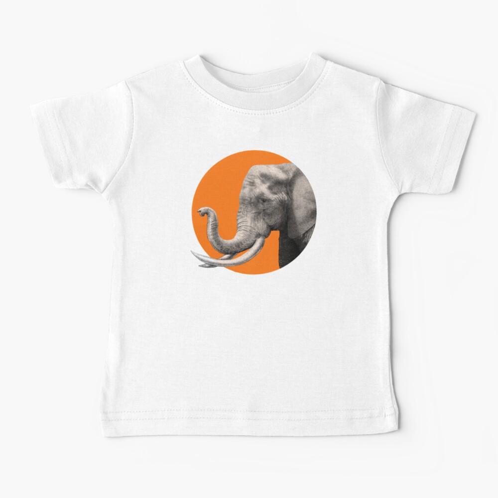Wild Elephant Baby T-Shirt