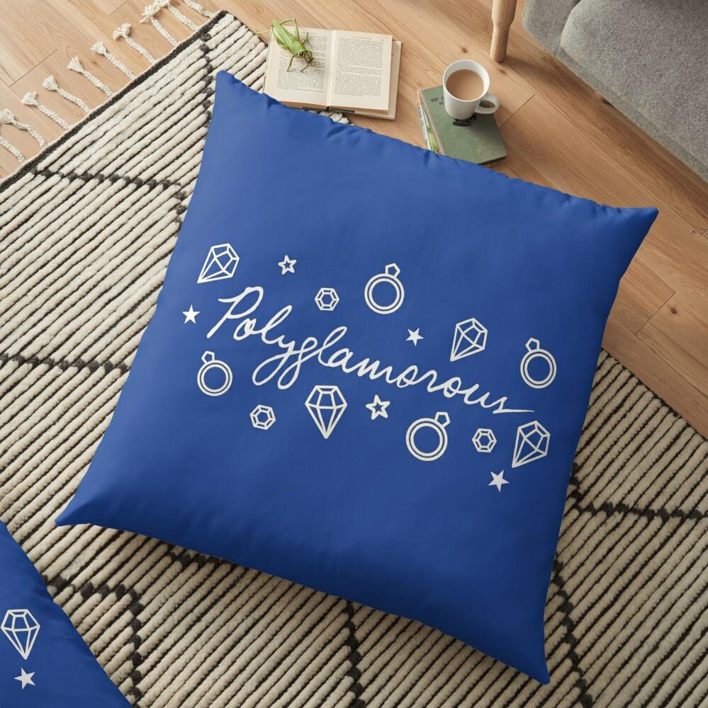 Polyglamorous Blue Floor Pillow