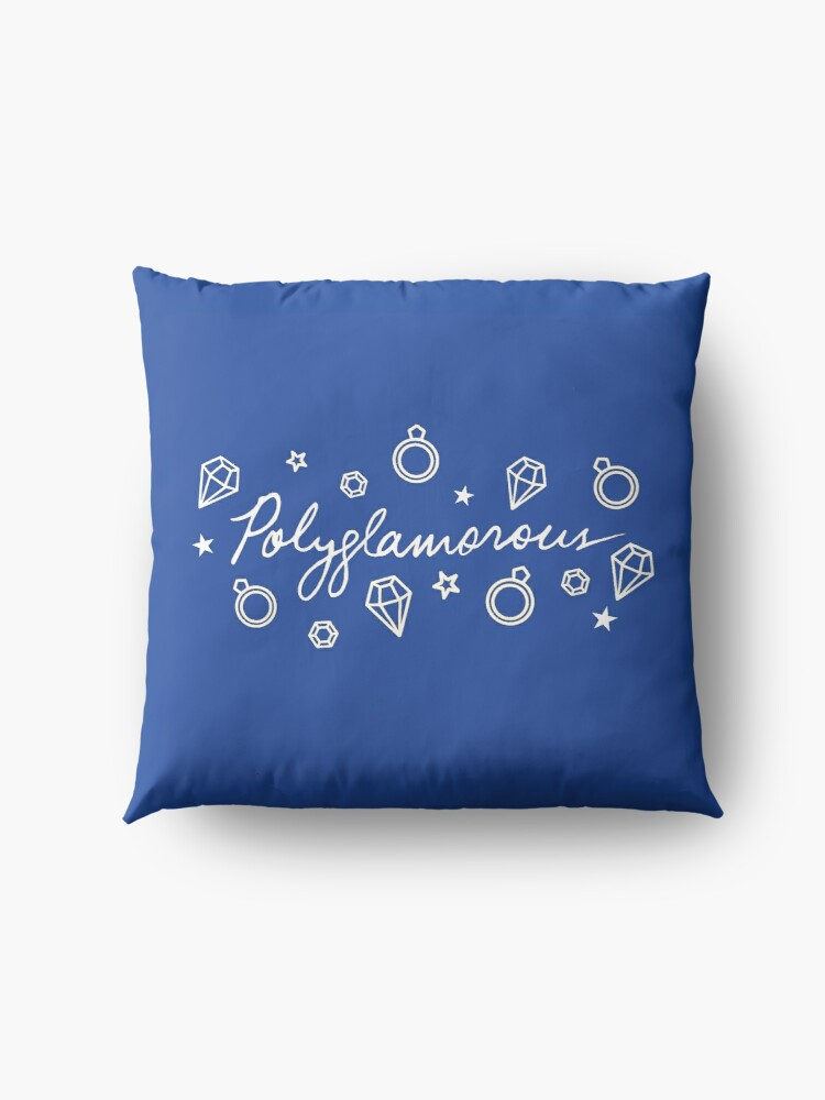 Alternate view of Polyglamorous Blue Floor Pillow