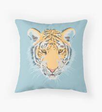 Serious amur tiger Throw Pillow