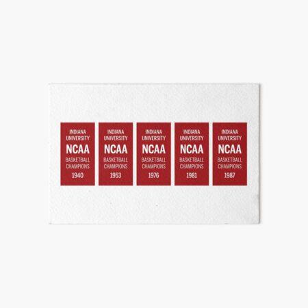 IU Basketball Banners Art Board Print