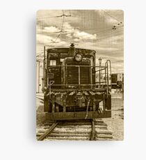 Vintage Army Train Canvas Print